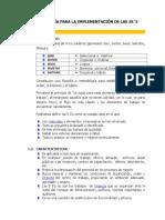 Metodologia Para La Implementacion de Las 5's
