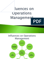 Influences on Operations Management