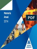 Memoria ACEROS AREQUIPA 2014