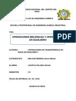 Operaciones Mecánicas y en Equilibrio