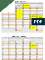 2019 Calendar Landscape 2 Pages Linear (1)