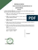 Affidavit Change of COLOR