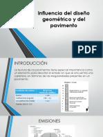 Influencia Del Diseño Geométrico y Del Pavimento