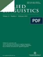 Applied Linguistics, Volume 31