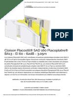 Cloison Placostil® SAD 160 Placoplatre® BA13 - EI 60 - 62dB - 3,05m - Placo®.pdf