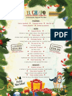 El Chappo Christmas Menu (2018)