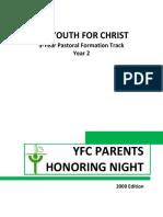 2 YFC Parents Honoring Night