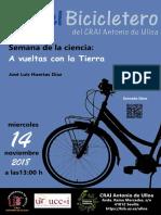 """En el Bicicletero del CRAI... """"A vueltas con la Tierra"""""""