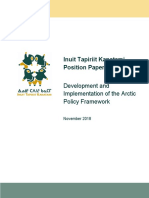 ITK Arctic Policy Framework Position Paper