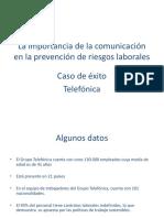 La Importancia de La Comunicacion en La PRL - Telefonica