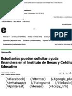 14-11-18 - EXPRESO - Estudiantes pueden solicitar ayuda financiera en el Instituto de Becas y Crédito Educativo