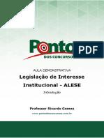 Legislação de Interesse Institucional - ALESE