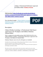 Clinical Medical Assisting a Professional Field Smart Approach to the Workplace 2nd Edition Heller Solutions Manual