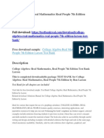 College Algebra Real Mathematics Real People 7th Edition Larson Test Bank