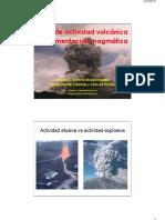 Tipos de Actividad Volcánica y Fragmentación Magmatica
