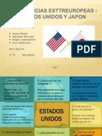 Potencias extra europeas EE.UU y japon