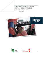 2012 El Movimiento de Mujeres y Feministas Del Ecuador Alejandra Santillana Margarita Aguinaga