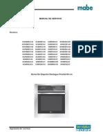 Manual de Servicio Horno Desfogue Frontal 60