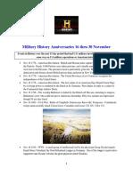 Military History Anniversaries 1116 Thru 113017