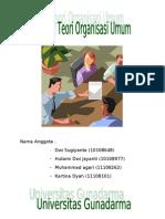 20318420 Artikel Teori Organisasi Umum