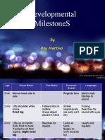 Developmental Milestones (Paediatrics)