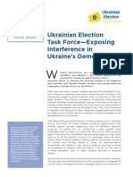 Ukrainian Election Task Force--Exposing Interference in Ukraine's Election