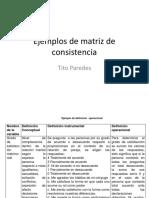Ejemplos de Matriz de Consistencia
