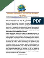 Vontade Permissiva ou Vontade absoluta de Deus..pdf