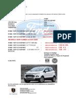 Cotizacion Ford New Ecosport 2018