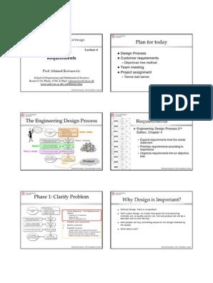 Me2104 04 H Pdf Engineering Design Process Design
