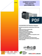 Ficha Tecnica Humidificadores Para Ducto Linea HR