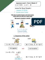 L17 Connecting Sentences