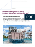 Transformer Protection (Combined Differential & Restricted Earth Fault EEP