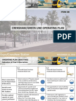 Crenshaw/LAX Line and Green Line Operating Plan Presentation