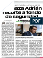 15-11-18 Rechaza Adrián recorte a fondo de seguridad