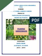 """Proyecto """"Plantas medicinales"""""""