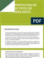 3.10 Segmentacion de Los Tipos de Mercados