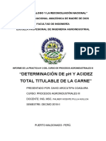 Determinacion de Ph y Acidez Procesos 3