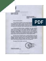 Dopis iz Ureda Predsjednice RH