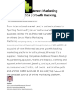 Ins and Out of Pinterest Marketing Winning Tactics | Growth Hacking.