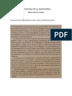 EL ENIGMA de LA MASONERÍA_textos de La Conferencia