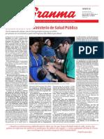 Diario Granma. 15 noviembre de 2018. p.1.