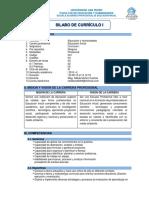 Inicial Silabo Curriculo i - III Ciclo 2018 - II