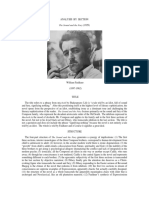 ANALYSIS Faulkner, William the Sound and the Fury (1929) Analysis by Section