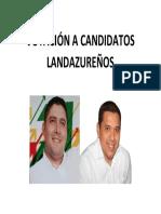 Votación a Candidatos Landazureños