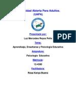 Universidad Abierta Para Adulto1 TAREA 3 PSICOLOGIA EDU