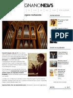 Concerto Dedicato All'Organo Restaurato - LegnanoNews