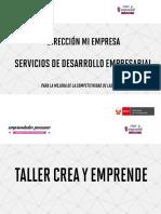 Taller Crea y Emprende - Sesión 1