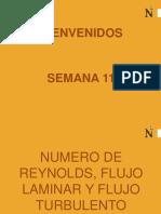 Numero de Reynolds, Flujo Laminar y Flujo Turbulento