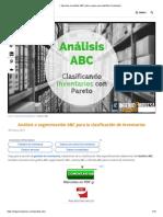 ▷ Aprende el análisis ABC paso a paso para clasificar inventarios